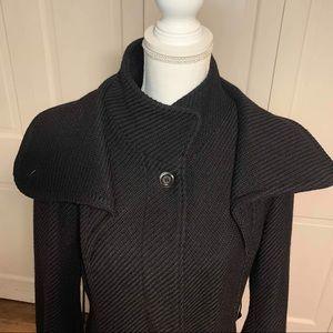 Mackage Jackets & Coats - Mackage High Collar Diagonal Knitted Long Coat L
